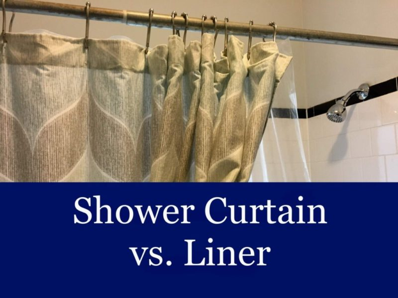 Shower Curtain Vs Liner What S The, What Size Shower Curtain Liner Do I Need